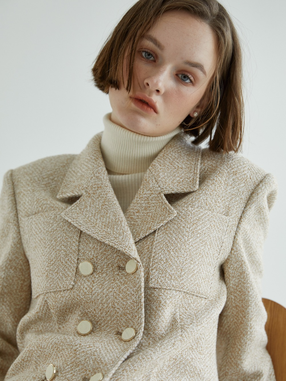 Saint Tweed Jacket [Beige]